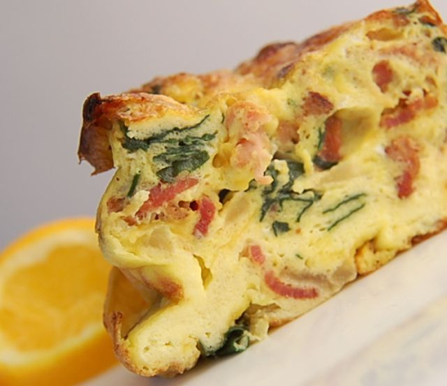 Frittata Recipe With Spinach Bacon And Cheddar