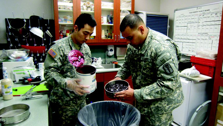 Army food inspectors stomach the challenge