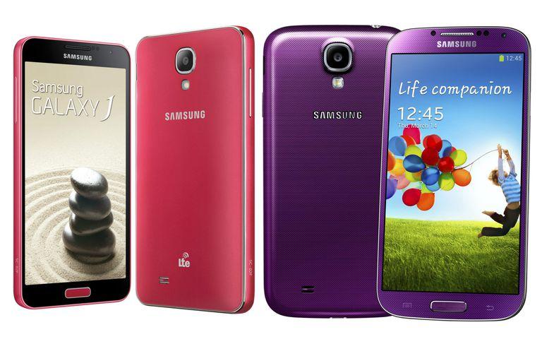 Samsung Galaxy J y Galaxy S4, dos celulares muy parecidos.