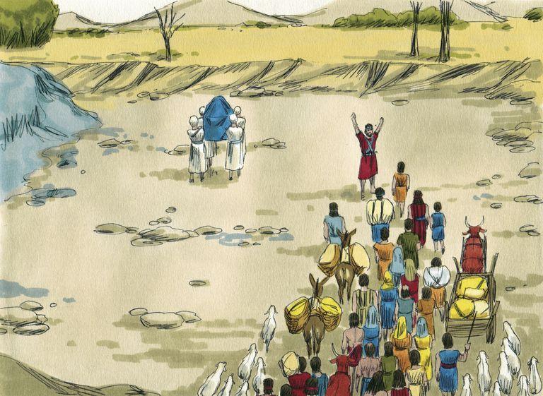 Crossing the Jordan River