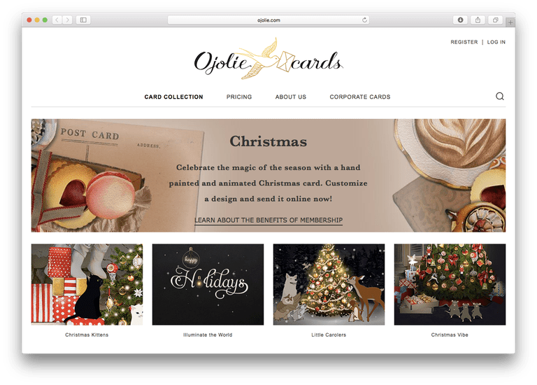 Ojolie - Christmas E-Cards