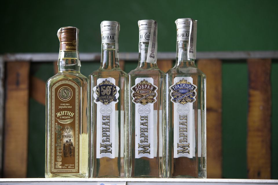 Bottles of Russian Vodka