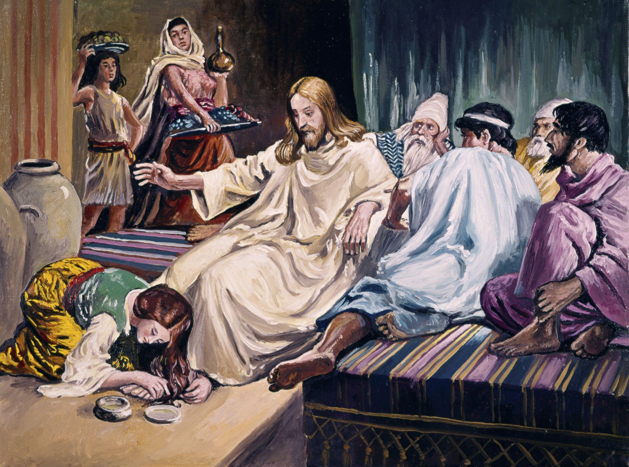 mary of bethany anoints jesus bible story summary