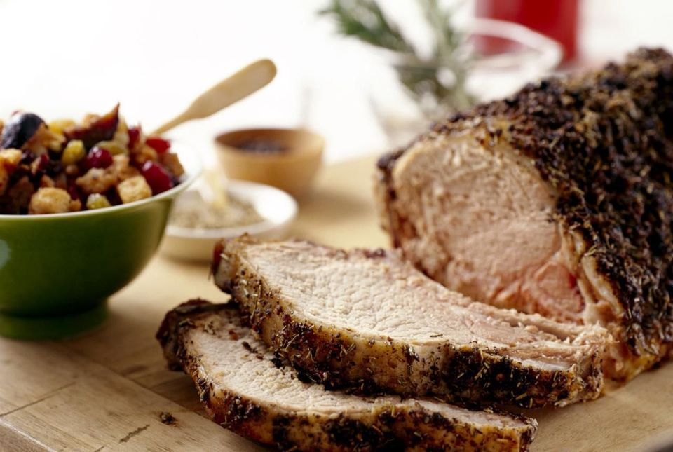 Herbed pork roast