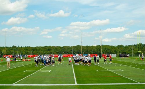 Patriots Training Camp Photos - Back to Practice at Training Camp Practice Fields