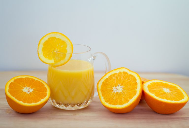 Orange juice is good for you - it's loaded with vitamin C.