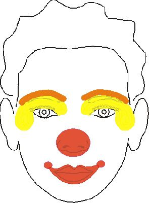 clown mouth coloring pages - photo#41