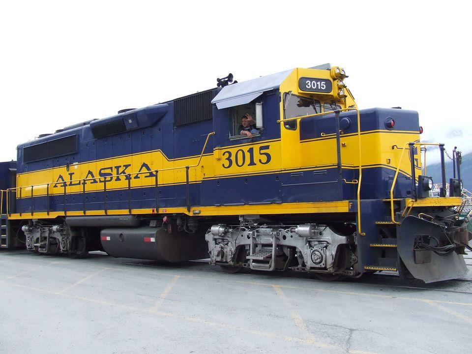 Alaska Railroad Train Engine