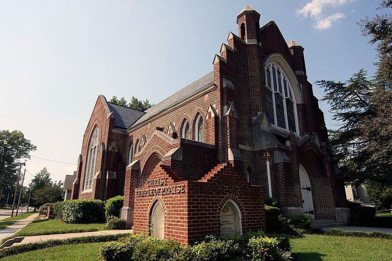 Church in downtown Wilson
