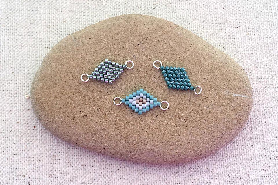 brick stitch diamond tutorial