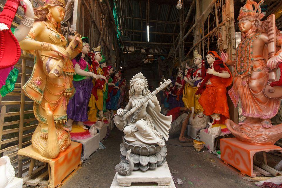 Beauty of Raw Clay - Goddess Saraswati