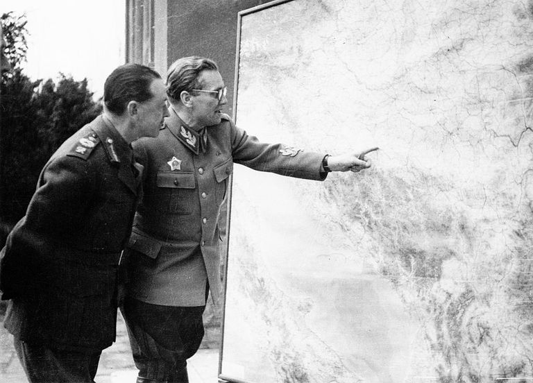 Field Marshal Alexander with Map