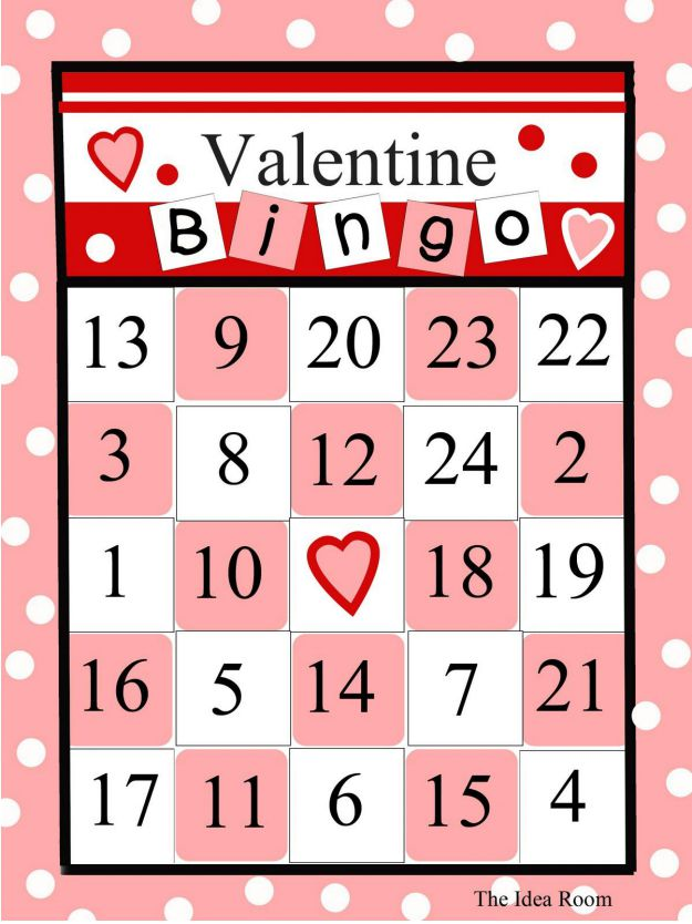 Epic image for printable valentines bingo cards