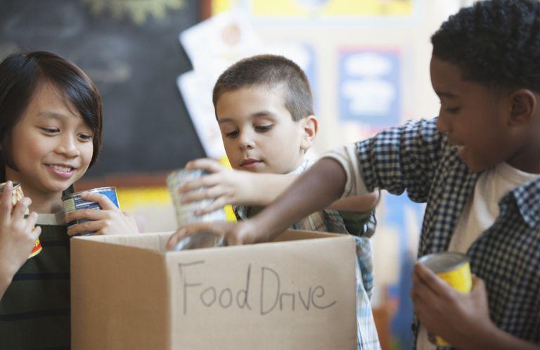 volunteer ideas for kids - food drive