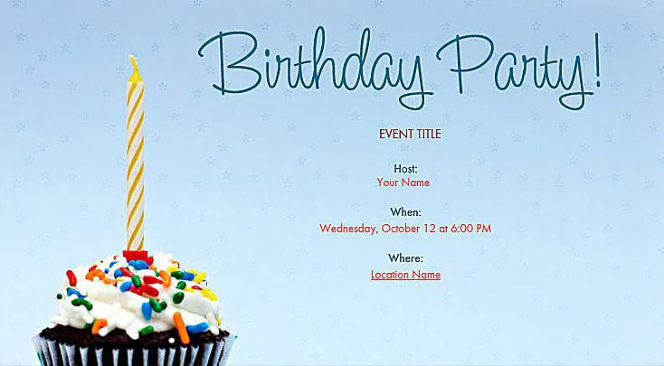 Free Birthday Invitations Online - Birthday invitation on mail