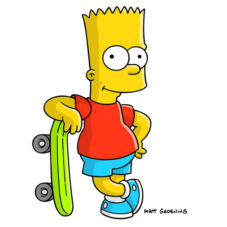 The top 50 cartoon characters of all time bart simpson voltagebd Gallery