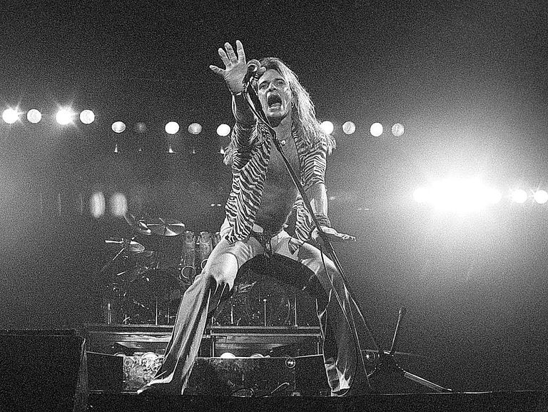David Lee Roth of Van Halen - live on stage during the band's late-'70s heyday.