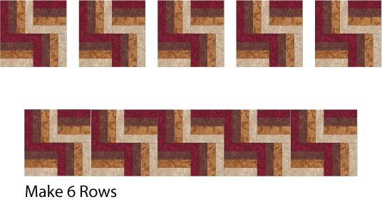 Rail Fence Quilt Assembly