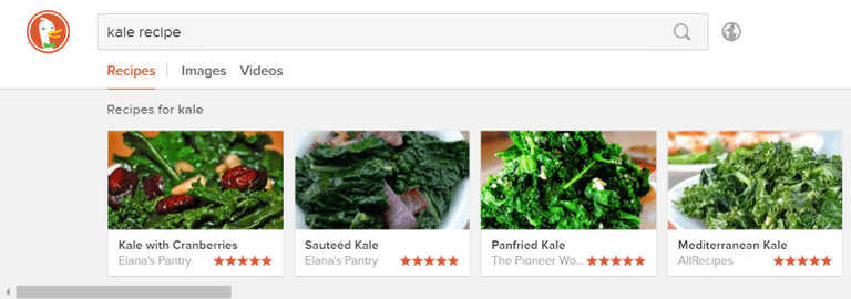recipes duckduckgo