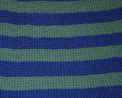 Garter Stitch Baby Blanket.