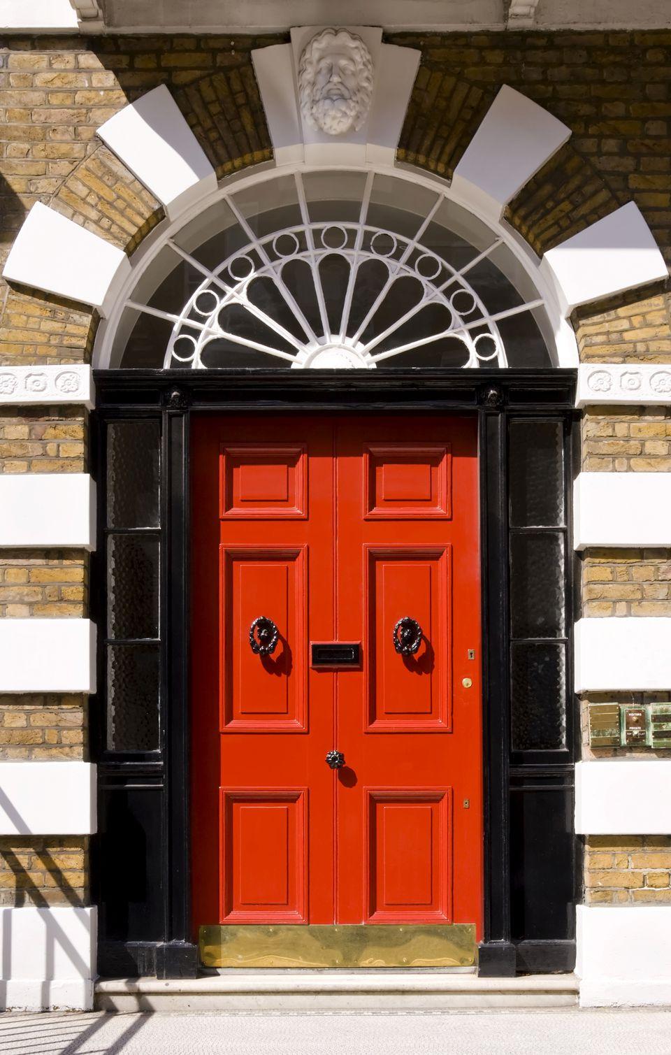 A picture gallery of red front doors red door black frame vtopaller Images