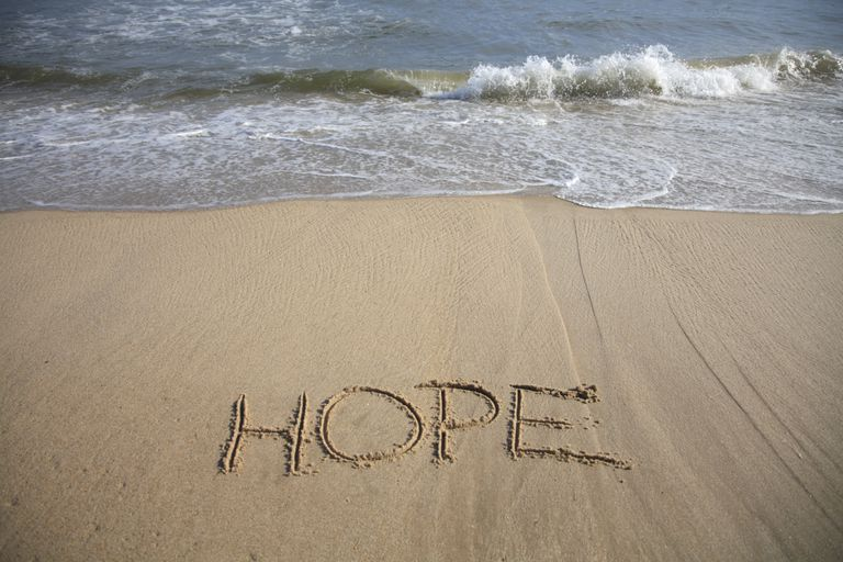 Hope is a good mantra for stress relief.