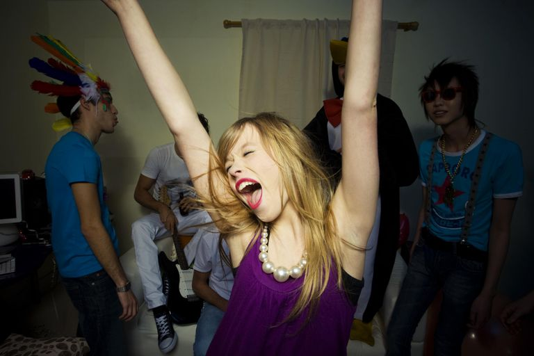 Girl Dancing at Party