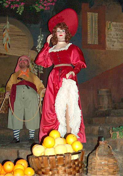 Animatronic figures figure into the history of Pirates of the Caribbean ride.