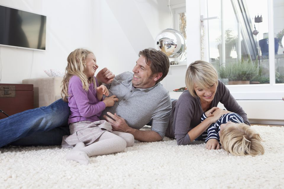 Family on a carpet
