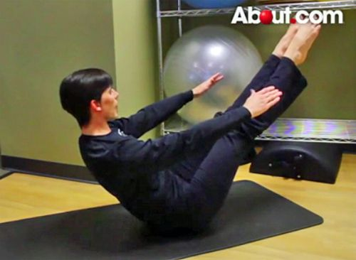 Pilates Teaser Exercise