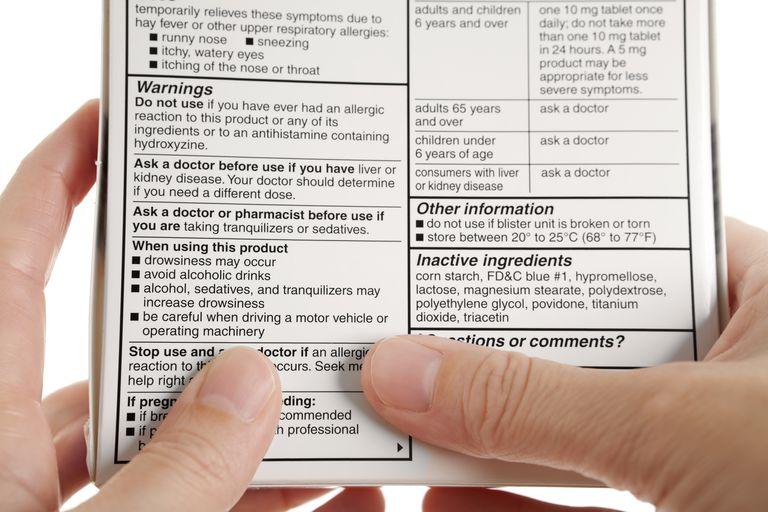 Medication Warning Label