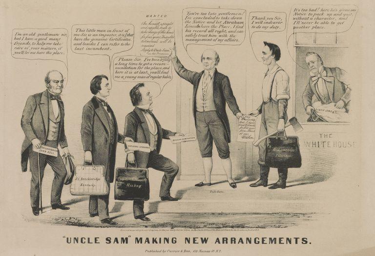 1860 depiction of Uncle Sam