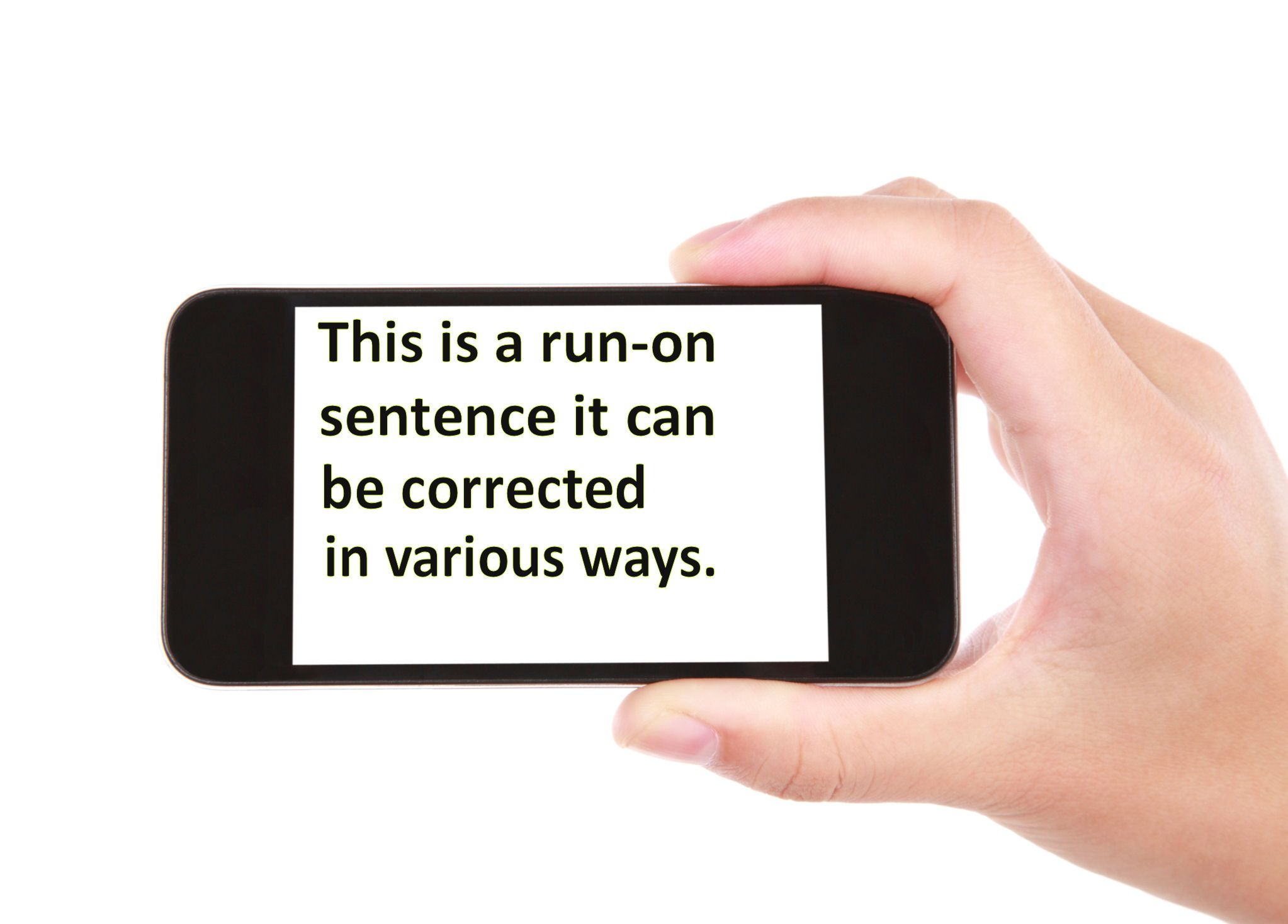 Ways of Correcting Run-on Sentences
