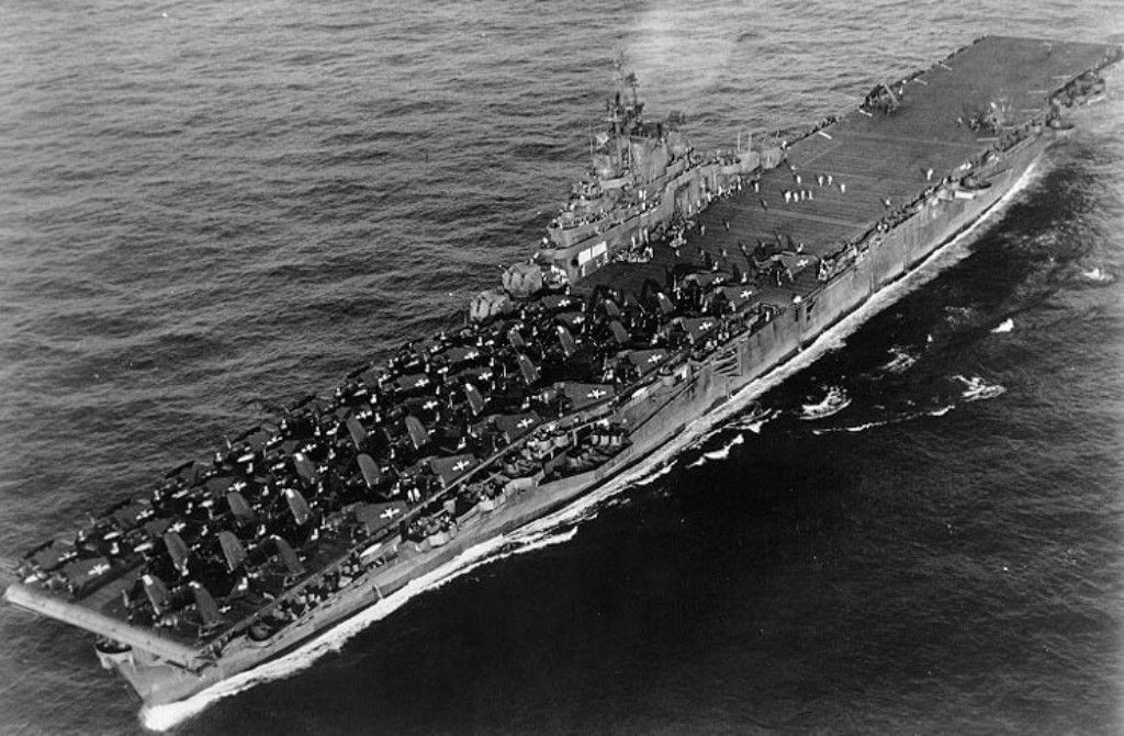 Uss Wasp Cv 18 World War Ii Aircraft Carrier Us Navy