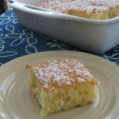 Greek Coconut Cake with Syrup