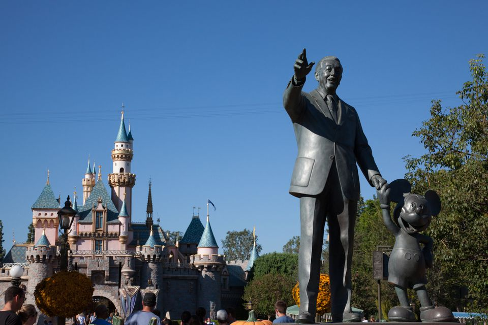 Walt Disney Statue at Disneyland