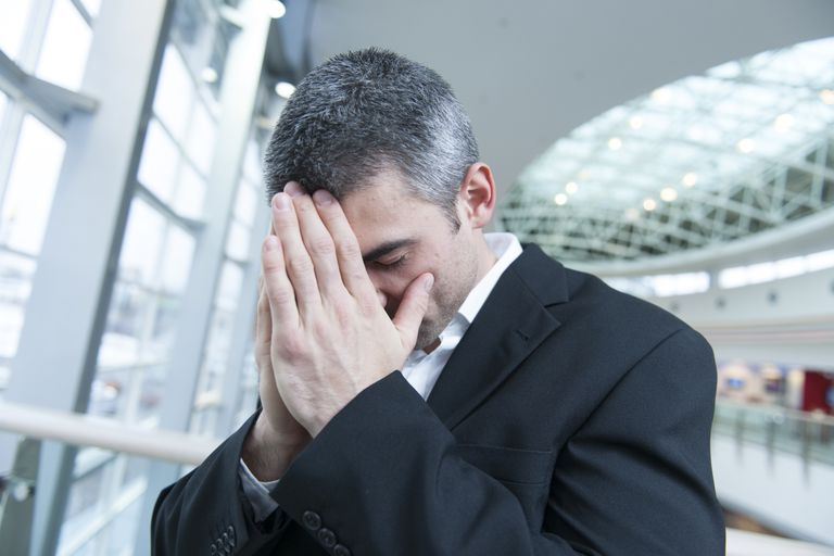 disappointed man in business suit