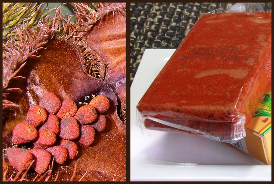 Achiote seeds and paste