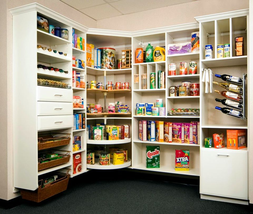 Pantry ideas to help you organize your kitchen for Kitchen closet