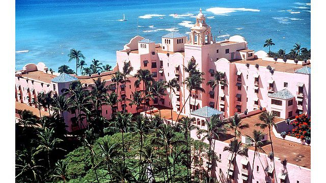 Aerial View of The Royal Hawaiian, A Luxury Collection Resort