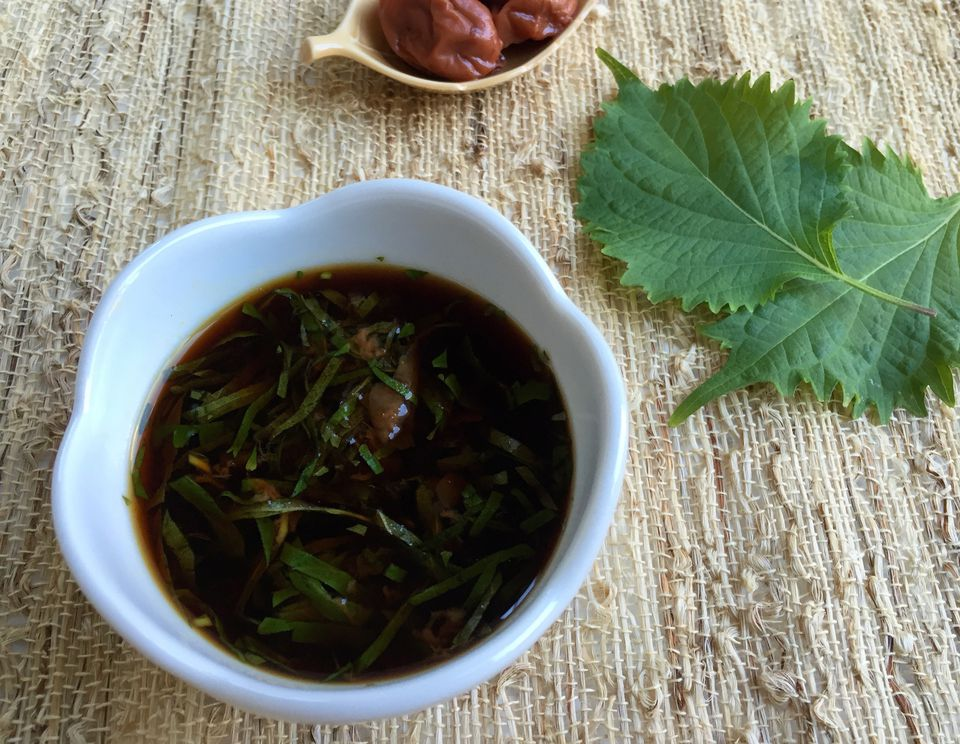 Ume Shiso Dare (Pickled Plum and Perilla Leaf Sauce)