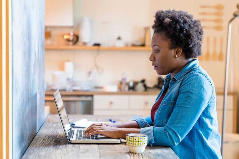 Woman searching on computer