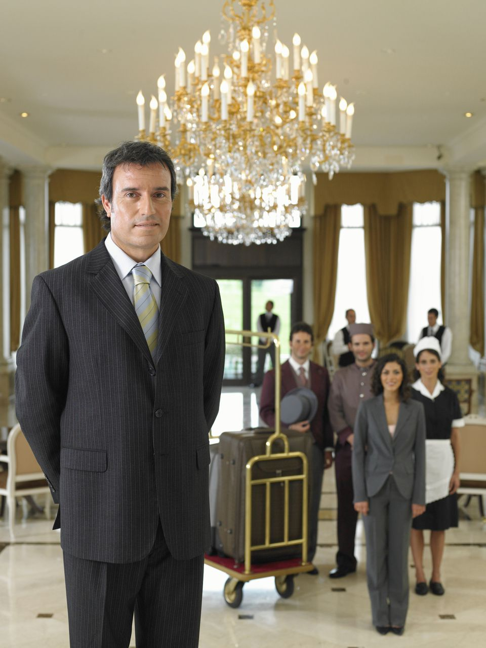 Hotel personnel at checkin