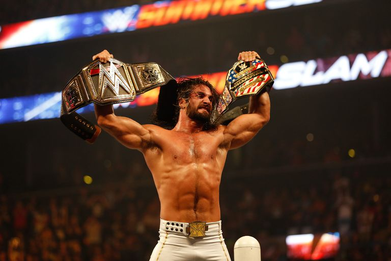 At SummerSlam 2015, Seth Rollins walked out of the show as both World and United States Champion