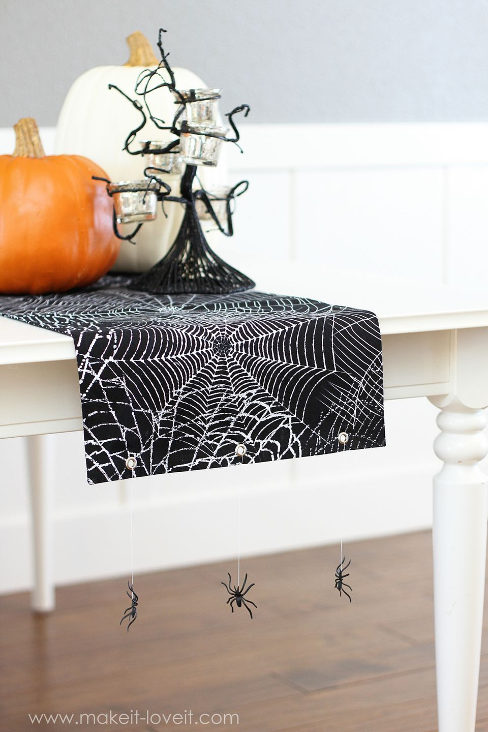 Hanging Spiders Table Runner