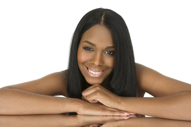 Hair that's well-conditioned produces better flat ironing results.