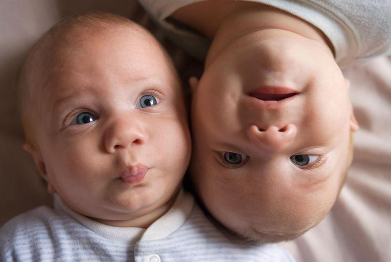 Identical twin baby boys