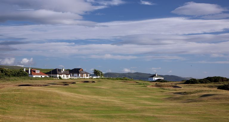 The 354 yds par 4, 1st hole on the Ailsa Course at Turnberry Resort