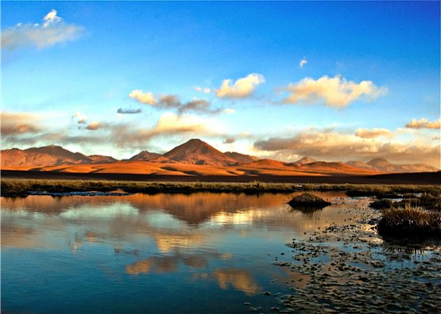 Atacama Desert lake in Chile