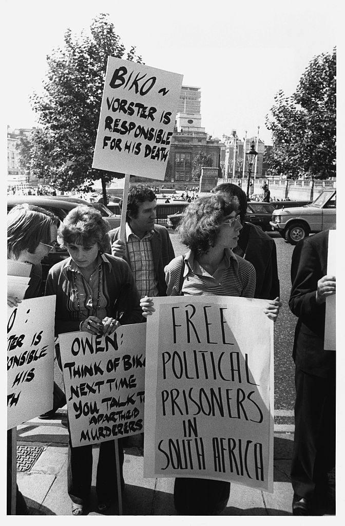 Anti-Apartheid Demonstrators, Trafalgar Square, London, 1977
